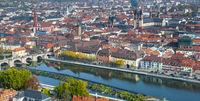 Altstadt von Würzburg am Main in Franken / Bayern