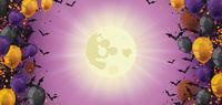 Halloween Header Sunbeam Balloons Bats Fullmoon