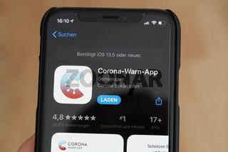 Corona-Warn-App on iPhone