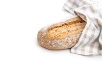 Crusty homemade bread.
