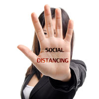 Social distancing practise