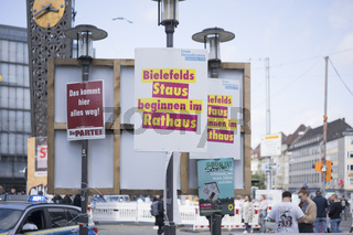 campaigning posters for the local elections