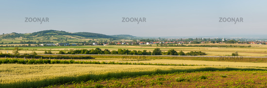 Panoramic View of a village in Burgenland