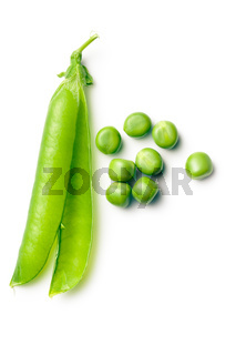 green peas and pod