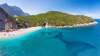 The beach Tsilaros in Evia, Greece