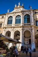 Vicenza, Italy - 03/19/2019 - San Vicenzo at the Plaza dei Signori