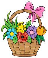 Flower basket theme image 1