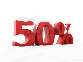 snowy discount. Winter Sale concept