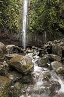 Wasserfall 25 Quellen, Rabacal, Madeira, Portugal, Europa