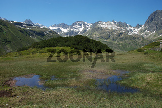 Alpenpanorama im Montafon, Silvretta, Grossvermunt