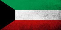The State of Kuwait National flag. Grunge background