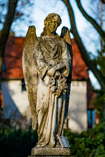 Statue of an angel on a german graveyard