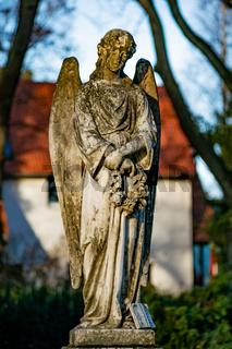 Statue of an angel on a german graveyard