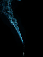 Incense with blue smoke