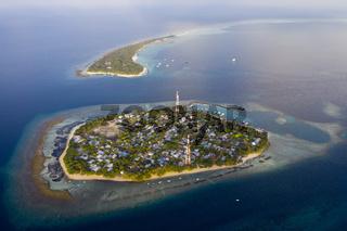 Luftaufnahme, Rasdhoo Atoll, Malediven