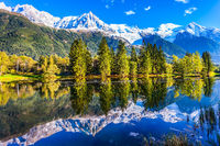 Snowy peaks of the Alps