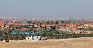 Cairo city skyline, Giza Plateau, Egypt