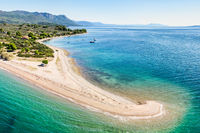 The beach Kavos at Lichadonisia complex in Evia, Greece