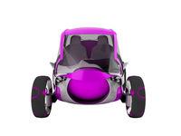Modern electric car for travel on sidewalks of purple with white insets 3D render on white background no shadow
