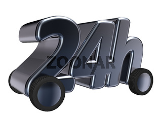 24h auf rädern - 3d illustration