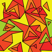Fragment of geometric cubism, Abstract seamless pattern 3.2.