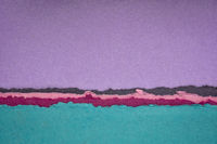 purple sunset abstract landscape created with handmade Indian paper