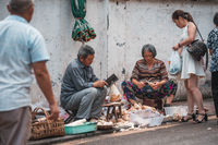 Street food sellers in China