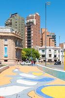 Cordoba Argentina colored pedestrian crossing in Spain square