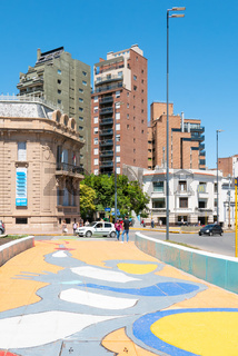 Cordoba Argentina colored pedestrian crossing in Spain square