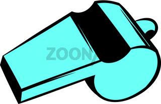 Blue sport whistle icon, icon cartoon