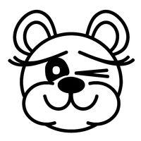 Lustiger Bär - zwinkernd