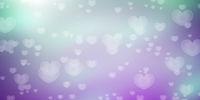 Colorful romantic hearts bokeh background
