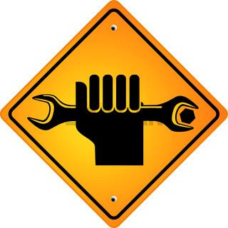 Hand mit Schraubschluessel.eps