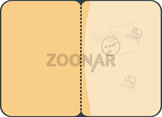 Passport With Stamps Vector