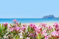 Beach of Moraira, spanish coastal town. Spain