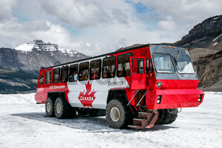 Tourist Bus on the Athabasca Glacier in Jasper National Park