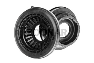 thrust bearings of front shock absorbers on a white background