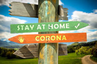 Street Sign STAY AT HOME