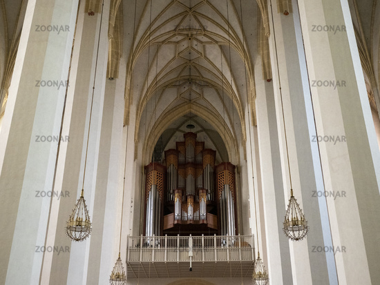 Frauenkirche - Gallery with Organ - Munich Cathedral Zu unserer Lieben Frau - View from Altar to Gallery with Organ