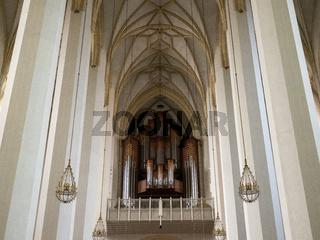 Frauenkirche - Galerie mit Orgel aus Sicht des Altars