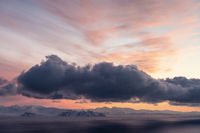 Abendstimmung, Barentssee, Norwegen
