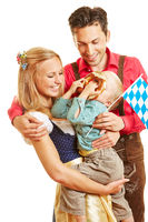 Familie in Bayern in Tracht