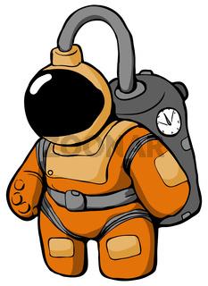 Space Suit Cartoon