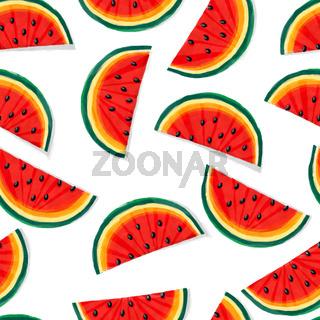 Watermelon pattern in watercolors