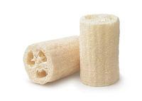 Two loofah bath scrub sponges