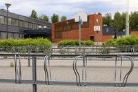 Moisio School with Empty Bike Racks, Salo Finland