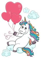 Unicorn with balloons topic image 3
