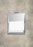 Closed card holder isolated on concrete background