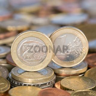 1 Euro Münze aus Griechenland