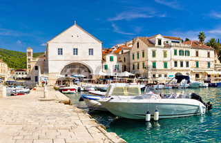 Hvar waterfront and theater view